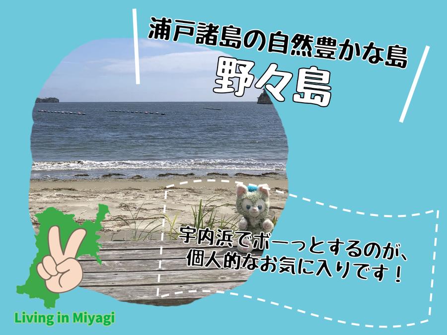 野々島は植物と素敵なビーチがある!宇内浜でボーっと過ごそう!